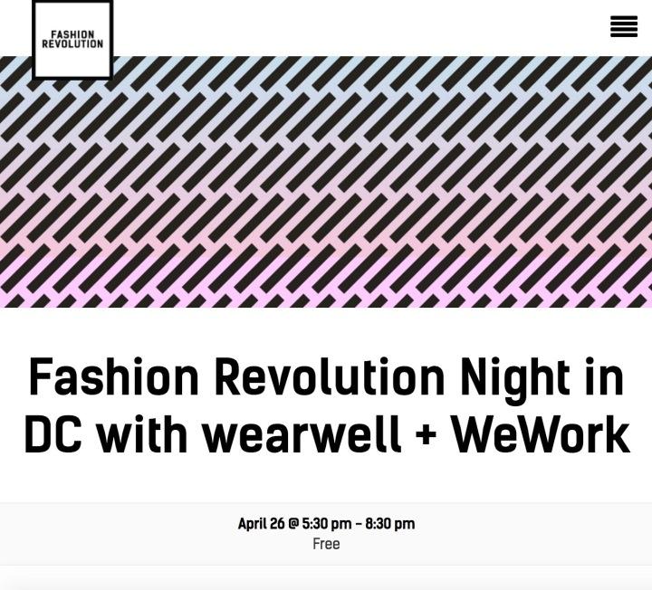 Fashion Revolution Night inDC