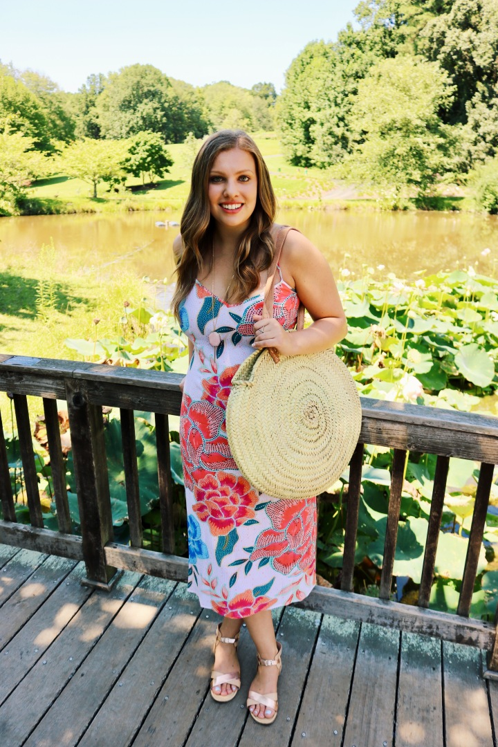 Sustainable Sundress & Straw Handbag For Those Late Summer Weekends